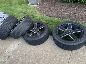 """KMC 20"""" Rims & Milestar Tires 245/45zr20 for Sale in Silver Spring, MD"""