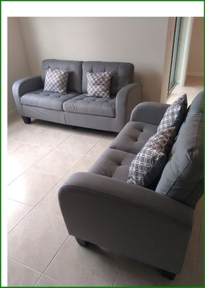 😊New Grey Sofa and Love Seat On Sale! Delivery Available for Sale in Davenport, FL