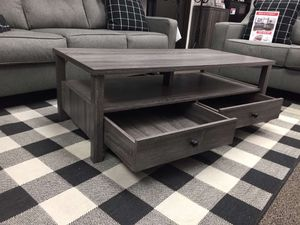 Coffee Table, Distressed Gray for Sale in Santa Fe Springs, CA