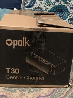 Polk Audio T30 100 Watt Home Theater Center Channel Speaker (Single) Premium Sound for Sale in Orlando, FL