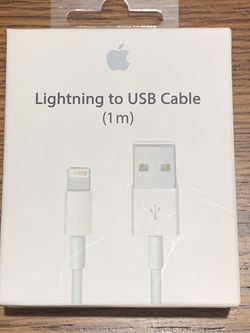 Apple (OEM) Lightning To USB Cable (1M) - New for Sale in Sacramento,  CA