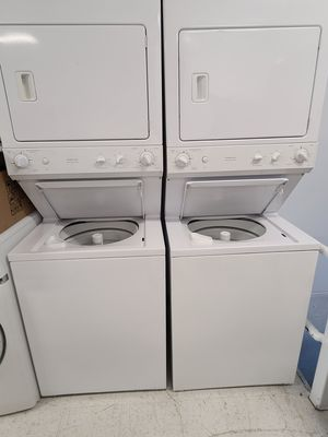 Ge 27 in stackable washer and electric dryer used in good condition with 90day's warranty for Sale in Mount Rainier, MD
