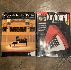 50 Greats For The Piano & FastTrack Music Instruction Keyboard 1 with CD for Sale in Las Vegas, NV