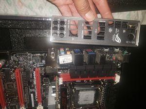 Asus Rampage IV Formula . Intel core i7 3930k , grafic card Gt 1030 2 gb. Casi nuevo , dos semanas de uso. No fallas , no problemas. for Sale in Huntsville, AL