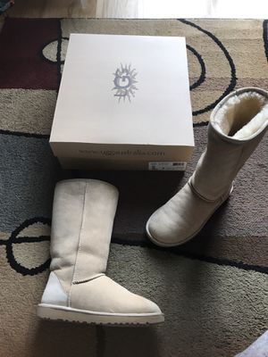 UGG Australia Classic Tall Sand Boots - These are 100% authentic and in excellent condition, like new! I just don't wear them much because I have so for Sale in Raleigh, NC