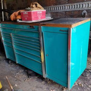 Snap on KR 1001 +side Cabinet + Butcher Block Tops for Sale in Woodbridge Township, NJ