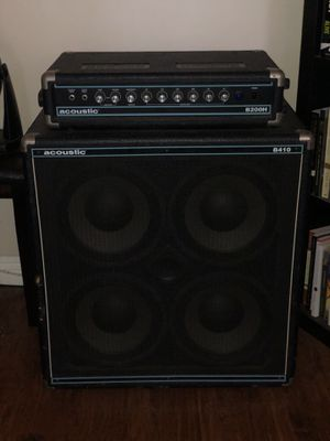 Bass guitar acoustic half stack and Ltd bass guitar for Sale in Beaufort, SC