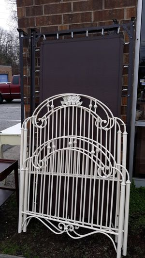 Pair of heavy iron twin beds With spring frames. for Sale in High Point, NC