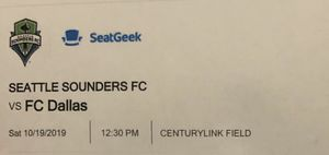 4 SUITE TICKETS to Sounders vs. FC Dallas w/ North Parking Pass for Sale in Edmonds, WA