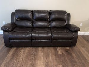 American furniture Espresso brown reclining couch for Sale in Chandler, AZ