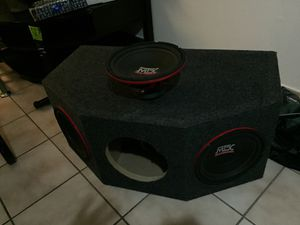 """3 10"""" MTX subwoofers with the box never been used for Sale in Tampa, FL"""