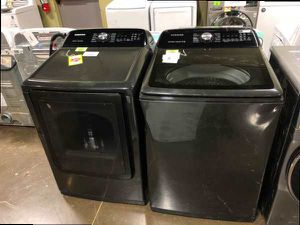 Black Samsung Washer and Electric Dryer Set TER for Sale in Ontario, CA