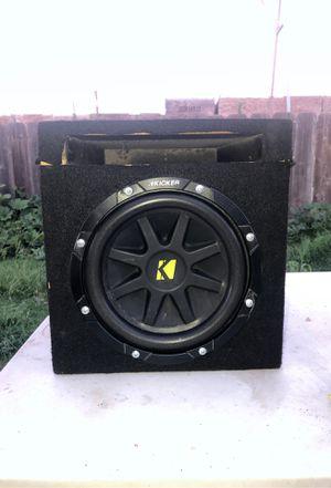 Kicker sub in ported box for Sale in Fresno, CA
