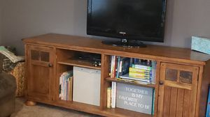Solid wood entertainment center for Sale in Otis Orchards, WA