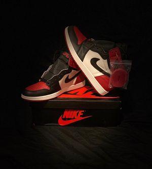 Jordan 1 Bred toe Size 11 for Sale in East Newark, NJ