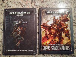 Warhammer 40k Rule Book + Chaos Space Marines Codex for Sale in Alexandria, VA