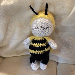 Hand Crochet Baby Bee for Sale in Mechanicsville, MD
