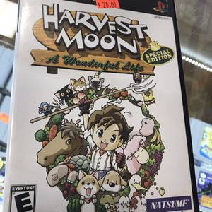 Harvest Moon A Wonderful Life Ps2 Complete for Sale in Garland, TX
