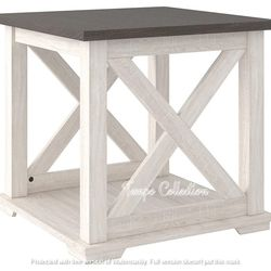 NEW, GRAY AND ANTIQUED WHITE COLOR, END TABLE, SKU#TC287.gray and antiqued white color� for Sale in Huntington Beach,  CA