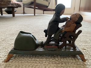 Cast Iron Mechanical Bank Dentist Collectible Vintage Piggy Bank Old Toy for Sale in Pinellas Park, FL