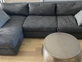 West Elm Urban 2-Piece Sectional - Gray Tweed for Sale in Austin,  TX