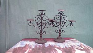 Wrought iron candle stick for Sale in Pontotoc, MS