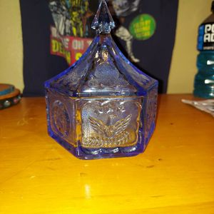 Vintage Indiana Blue Tiara Eagle And Stars Candy Dish for Sale in Phoenix, AZ