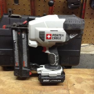 Porter cable 20 V nail gun and battery for Sale in Columbus, OH