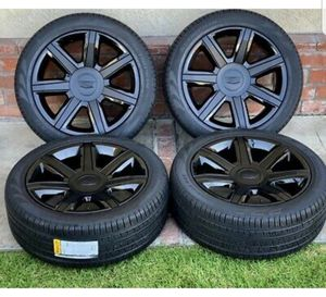 "22"" Cadillac Escalade Wheels Rims Tires 2015-2019 Factory OEM Black GM for Sale in Solana Beach, CA"