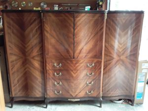 Antique armoire with matching bedside tables for Sale in Snohomish, WA
