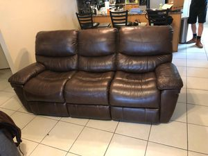 genuine all leather Reclining sofa for Sale in Dunedin, FL