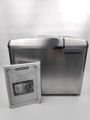 Breadman Pro Bread Maker TR900S Tested with Pan And Paddle + INSTRUCTION MANUAL for Sale in Phoenix, AZ