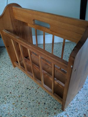 Wooden magazine or book rack/holder for Sale in Hialeah, FL