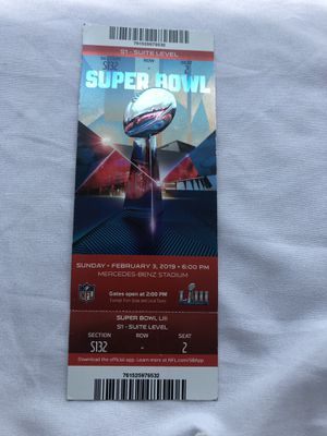 Super Bowl 53 Ticket Stub LIII for Sale in Bethesda, MD