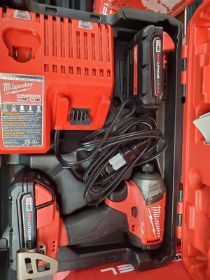 Milwaukee Fuel SURGE with 2 batteries and charger in hard case BRAND NEW only 130$!!! for Sale in Fort Worth, TX