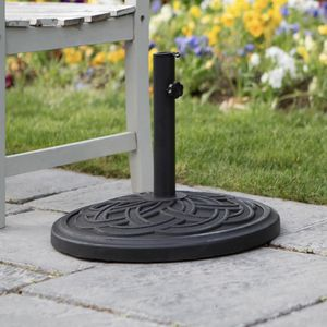 Circle Weave Round Outdoor Patio Umbrella Base - Black for Sale in Plano, TX