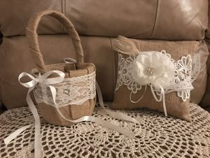 Various burlap and lace wedding decor for Sale in Washington, DC