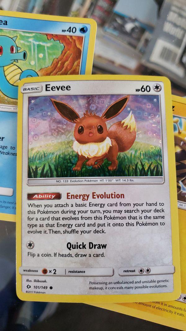 Pokemon eevee card