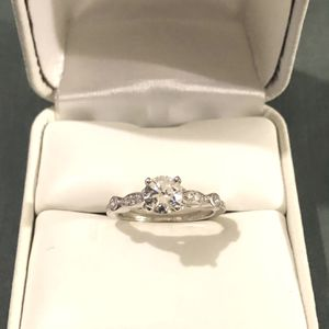Brand New CZ Diamond Set In A Silver Promise Ring. Size 6.5 for Sale in Vacaville, CA