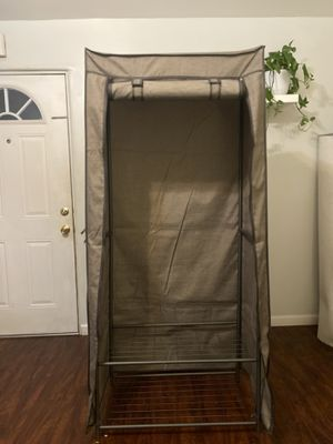 2 Tier wardrobe with 2 shelves and breathable cover for Sale in San Marino, CA