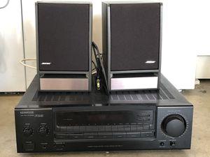 Kenwood Audio Stereo and Bose Bookshelf Speakers for Sale in Costa Mesa, CA