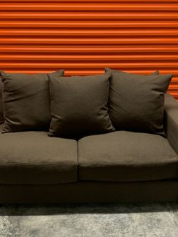 Brown Fabric Modular Left Arm Loveseat for Sale in Manchester,  MO