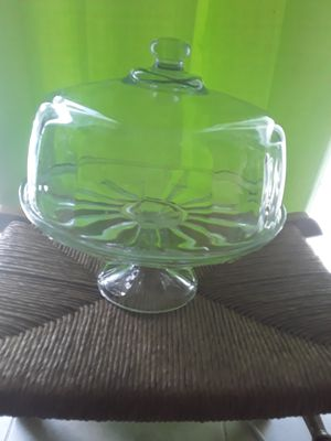 Vintage Heavyweight Glass Cakestand for Sale in Port St. Lucie, FL