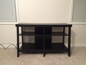 Black wood entertainment stand for Sale in Alexandria, VA