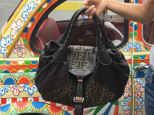 FENDI Leather Hobo Spy Bag