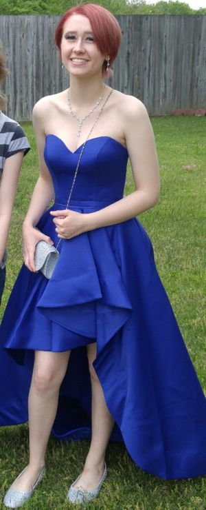 Blue High-Low Prom Dress from David's Bridal (Size 0) for Sale in Smithfield, NC