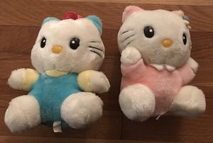 Vintage Pair of 8 Inch Hello Kitty Plush for Sale in Old Tappan, NJ