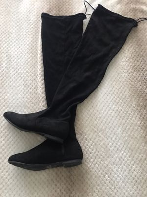 Black thigh high boots size 8 1/2 for Sale in Houston, TX