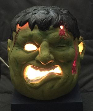 """Vintage ('90s) 10"""" Frankenstein Monster Head Halloween Lantern - Good Condition. 👉See my other offers👈 for Sale in Stockton, CA"""