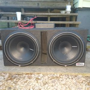 ROCKFORD FOSGATE PRIME 750--1D AMPLIFIER WITH TWO PUNCH P/2 SUBWOOFERS IN THE BOX! for Sale in Concord, NC